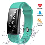 Lintelek Fitness Armband Fitness Tracker mit Pulsmesser Fitness Uhr Schlaf Monitor Schrittzähler Aktivitätstracker Pulsuhren Smart Armbanduhr IP67 wasserdicht Kalorienzähler für Damen und Herren