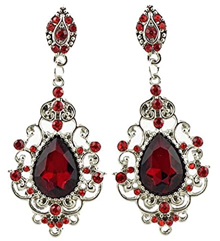 SaySure - Austrian Crystal 18K Gold Filled Ruby Drop