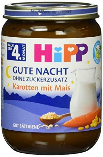 HiPP Gute Nacht, Karotten mit Mais, 6er Pack (6 x 190 g)