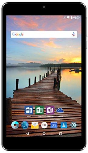 Odys Nova X7 Pro 17,8 cm (7 Zoll HQ Display) Tablet PC (Intel Atom x3-C3205RK, 1GB RAM, 8GB HDD, Android 6.0) schwarz Bonus Paket inkl. Silikonhülle und Displayschutzfolie, Office für Android