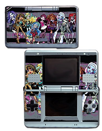 Monster High School New Ghoul Spirit Clawdeen Wolf Ghoulia Yelps Rule Haunted Doll Frankie Stein Draculaura Cleo de Nile Video Game Vinyl Decal Skin Sticker Cover for Original Nintendo DS System by Vinyl Skin Designs