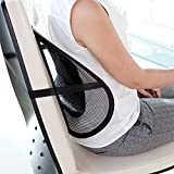 Sadruchi Mesh Ventilated Back Rest Support Cusion For Car Seat, Home And Office Chair(Set Of 1, Black)