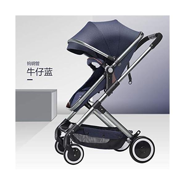 XYUJIE Baby Carriage,Ultra Light And High Landscape Can Sit Reclining Four Wheel Shock Simple Folding Trolley XYUJIE  5