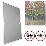 wolketon wolketon 100x120CM Fliegengitter fenster-Alurahmen Mückenschutz Gaze Gaze Mückengitter UV-Schutz Wasserdicht Für Wohnzimmer Fenster Balkone