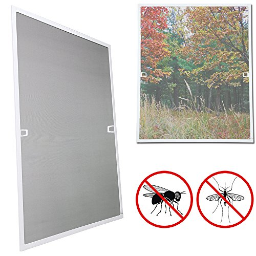 wolketon 100x120CM Fliegengitter fenster-Alurahmen Mückenschutz Gaze Gaze Mückengitter UV-Schutz Wasserdicht Für Wohnzimmer Fenster Balkone
