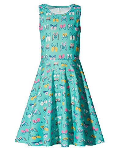chen A-Linie Schmetterling Hässliche Kleid Prinzessin Outfit Kleidung für 4-13 Jahre Alt ()