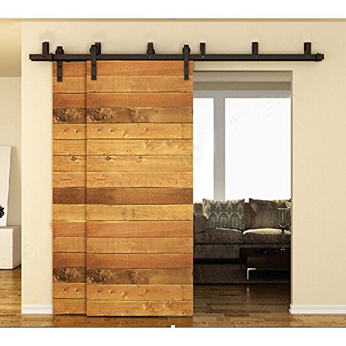Ccjh Flat Style bypass Sliding Barn porta armadio in legno