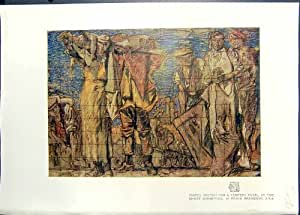 Exposition En Pastel Frank Brangwyn de Gand de Panneau de Tempera de Croquis d'Impression de Couleur 1911