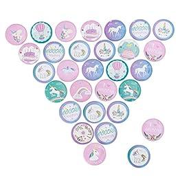 30 spille a forma di unicorno, per vestiti, borse, zaini.