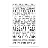 WonderwallPoster® WP005A2 Apple Think Different Fan-Artikel Poster Steve Jobs Fanboy / DIN A2+ 42 x...
