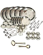 Kitchen Pro Stainless Steel Dinner Set of 44 Pcs