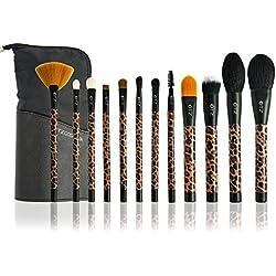 TZ cosmetix–profesional 12pcs eeyshadow Kit de juego de cepillo de maquillaje Madagascar leopardo color