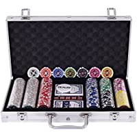 Coffre professionnel de poker Set Poker de 300 jetons Mallette en aluminium