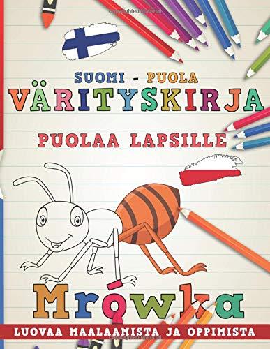Värityskirja Suomi - Puola I Puolaa lapsille I Luovaa maalaamista ja oppimista (Oppia kieliä) por nerdMediaFI