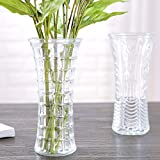 Dwayne C Single Flower Vase Sunflower/Square/Twill/Butterfly Veins,Glass (Twill)