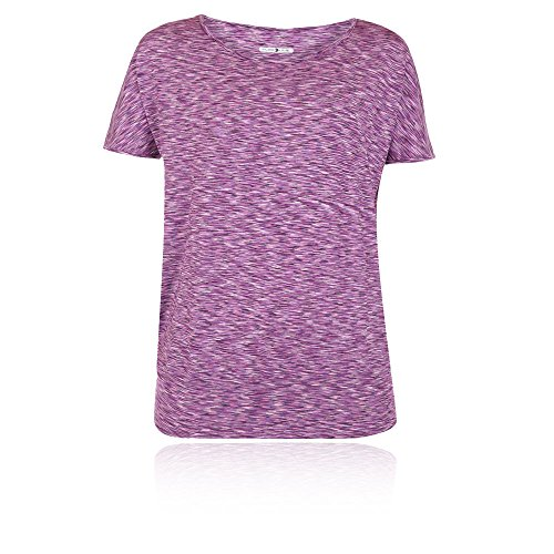 PureLime Pure Lime Womens Melange Hem T-Shirt - SS17 pink