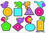 Melissa & Doug Shapes Wooden Peg Puzzle (8 pcs)