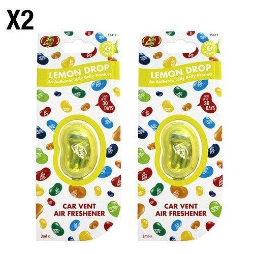 Jelly Belly Lemon Drop Geschmack Vent KFZ Lufterfrischer-2Pack (Twin Pack) -