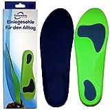Einlegesohlen / Schuhsohlen Größe L – 44 -46 Freizeit – Stabilisiert den Fuß optimal für Männer und Frauen – Fersen und Fußballen Unterstützung