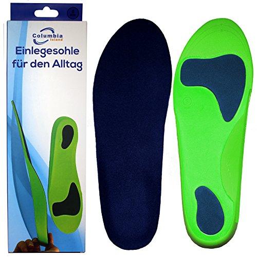 Orthopädische Einlegesohle / Schuhsohlen / Schuheinlage Größe L 44 -46 Sport-Einlegesohlen Einlagen - Fersen - Fußballen Unterstützung Arbeitsschuhe / Laufschuhe / Fersensporn
