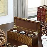 Ybin Schmuck - Kollektion Kiste Holz Antike Uhr Box Display - Box Armband - Sammlung Drei Gitter Epitopes