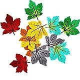 12toppe assortite a forma di foglie d'acero, termoadesive, ricamate, per decorazioni fai da te Assorted