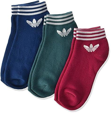adidas Damen Trefoil Ankle Superstar Socken, Tech Steel/Tech Green/Unity Pink, 39-42