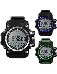 Smartwatch Reloj Demiawaking Reloj Inteligente NO.1 F2 Del Teléfono Elegante IP68 Impermeable Smartwatch Modo Al Aire Libre Fitness (Negro)