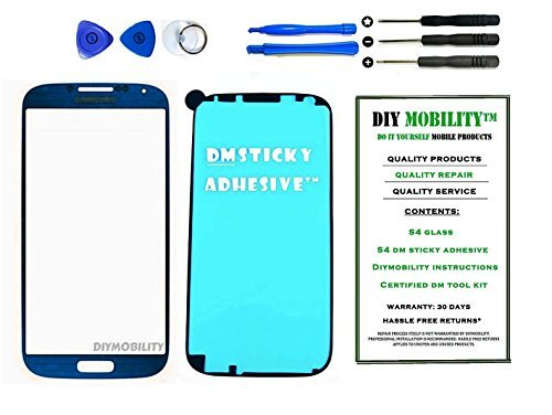Samsung Galaxy S4 Glass Screen Mist Blue Replacement Kit with DM Tools  available at amazon for Rs.1379