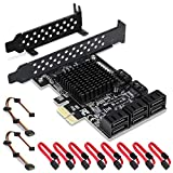 Rivo Scheda PCIe SATA, 8 Porte con 8 Cavi SATA, Scheda di espansione Controller SATA con Staffa a Basso Profilo, Marvell 9215 Non-Raid, Boot as System Disk, Supporta 8 dispositivi SATA 3.0 (SA3014)
