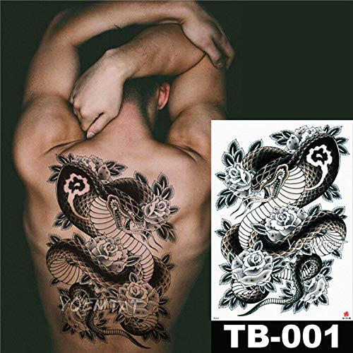 tzxdbh 2 Stücke-Blume Tattoo Aufkleber Damen Brust Bauch Kostüm Studio Rose Pfirsich Pfingstrose Tattoo Aufkleber 2 Stücke- (Alle Hände An Deck Kostüm)