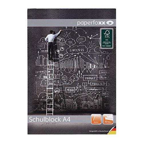 Paperfoxx 114061 Briefblock 10-er Pack, a 50 Blatt A4 kariert Grammatur 70 g/m²