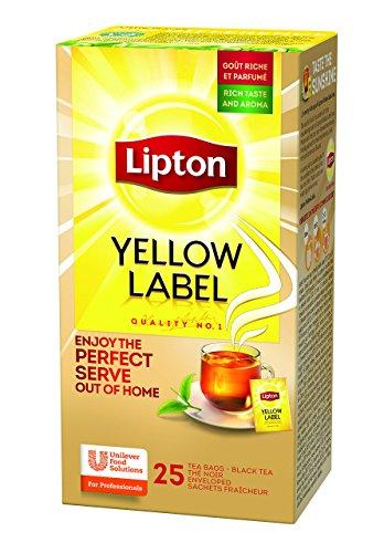 Lipton Yellow Label schwarzer Tee (aus sonnengereiften Teeblätter) 3er Pack (3 x 25 Teebeutel)