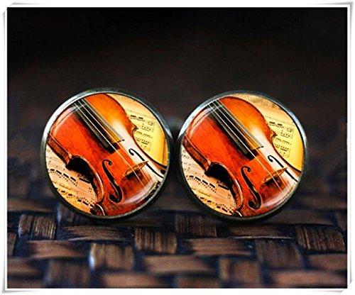 Geige Manschettenknöpfe, klassische Musik Manschettenknöpfe, Musik Manschettenknöpfe