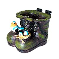 Garden Style 240000723 Decorative Boot Planter with Birds