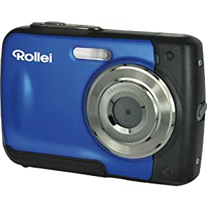 Rollei Sportsline 60 - vielseitige Digitalkamera mit 5 MP, 8-fach digitalem Zoom, 6 cm Display (2,4 Zoll), bildstabilisiert, spritzwasserfest und wasserdicht bis 3m - Blau