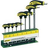 Serie di cacciaviti con impugnatura a L Pratico supporto per officina. Chiare indicazioni di misura sul supporto. Proxxon 22650