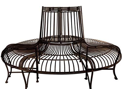 aubaho Brun l`Arbre Banc Set Meubles de Jardin en métal de Style Antique Fer mobilier