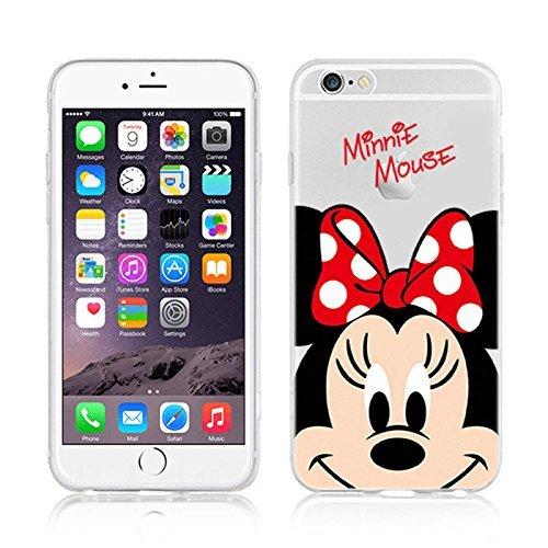 NEW Disney MINNIE CARTOONS Transparent Coque souple en TPU pour Apple iPhone 5, 5S, 5C, 6 &6S (iphone 7/8, MINNIE)