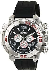 Nautec No Limit Herren-Armbanduhr XL Ultimate Ocean Chronograph Quarz Kautschuk UO QZ/RBSTSTBK-RD