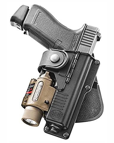 Fobus Tatical concealed carry Belt Holster with Hinge for Glock 17,22 with Tactical Accessory S&W M&P 9mm Smith&Wesson /Walther P99Q