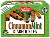 Caribbean Dreams Cinnamon Mint Diabetics Tea naturally sweetned with STevia, 20 tea bags, MADE IN JAMAICA