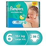 #8: Pampers Active Baby Dry Diapers, Size 6, Extra Large, 15+ Kg, Jumbo Pack, 36 Count