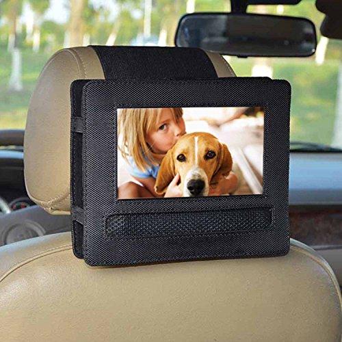 Auto KFZ Kopfstützen Halterung für DBPOWER 7.5'' Tragbarer DVD-Player, schwenkbarer Bildschirm - Schwarz