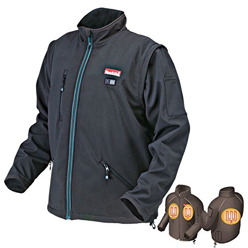 MAKITA DCJ200ZL Jacket with 14 4 and 18 V Lithium-Ion