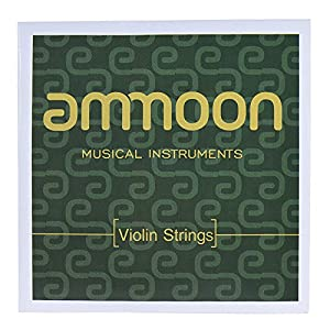 ammoon Full Set Violin Strings Size 1/2 & 1/4 Steel Strings G D A and E Strings High Quality