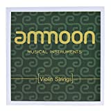 ammoon Cordes de Violon Ensemble Complet Cordes en Acier de Haute Qualité Taille 4/4 & 3/4 G D A et E Cordes