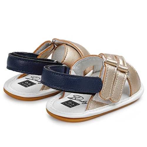 Babyschuhe Longra Baby Mädchen Jungen Sandals Shoe Casual Krabbelschuhe Sneaker Anti-slip Soft Sole Toddler Lauflernschuhe(0-18Monate) Gold
