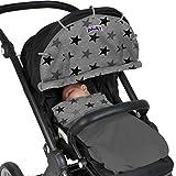 Dooky Sonnenschutz für Kinderwagen, silberfarbene Sterne