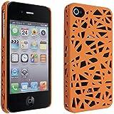 SODIAL(R) Funda Carcasa para Apple iPhone 4 / 4S (AT&T / Verizon), Diseno de Nido de Ave - Color Naranja